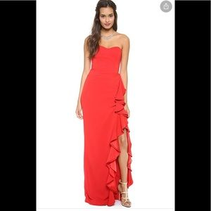 Sweet Storm Prom Strapless Red Maxi Dress S New